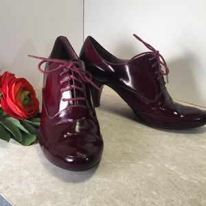 Nine West burgundy red patent leather heels 8 1/2M